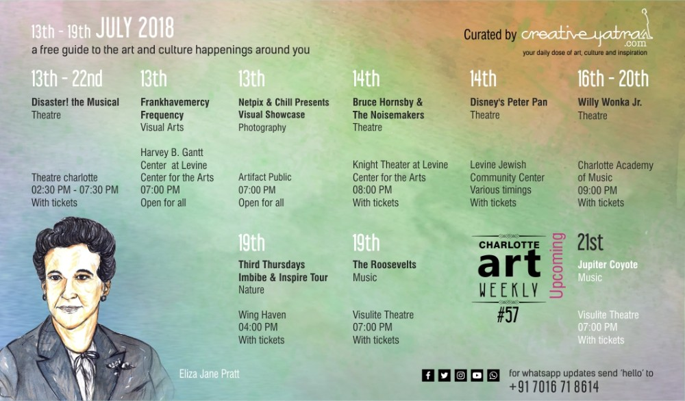 People of Charlotte will have music on their minds this week! Find out why in Charlotte Art Weekly #57
