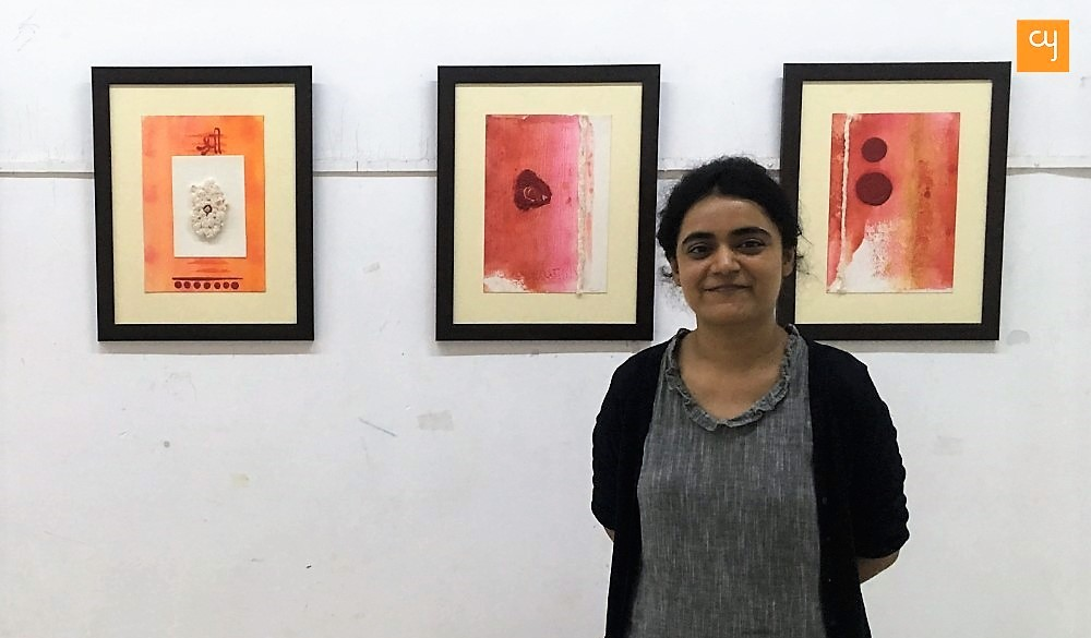 Trupti Raval at her solo exhibition 'Kundalini Jagran'