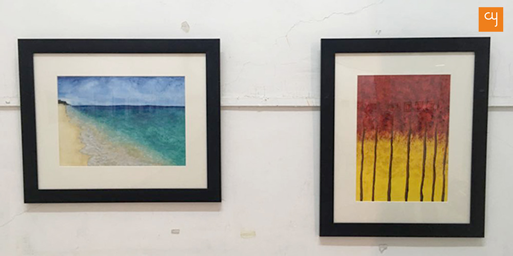 Paintings of artist Ramesh Joshi at his solo exhibition Strokes 4