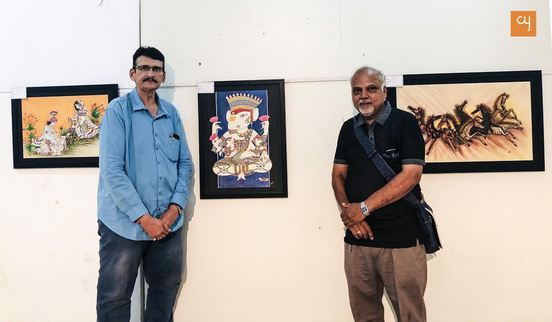 Artists Tarun Kothari and Bipin Dave at Ravishankar Raval Kala Bhavan