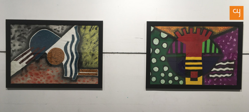 Panthini Kadia Mevada's geometric paintings at 'Merge' art exhibition