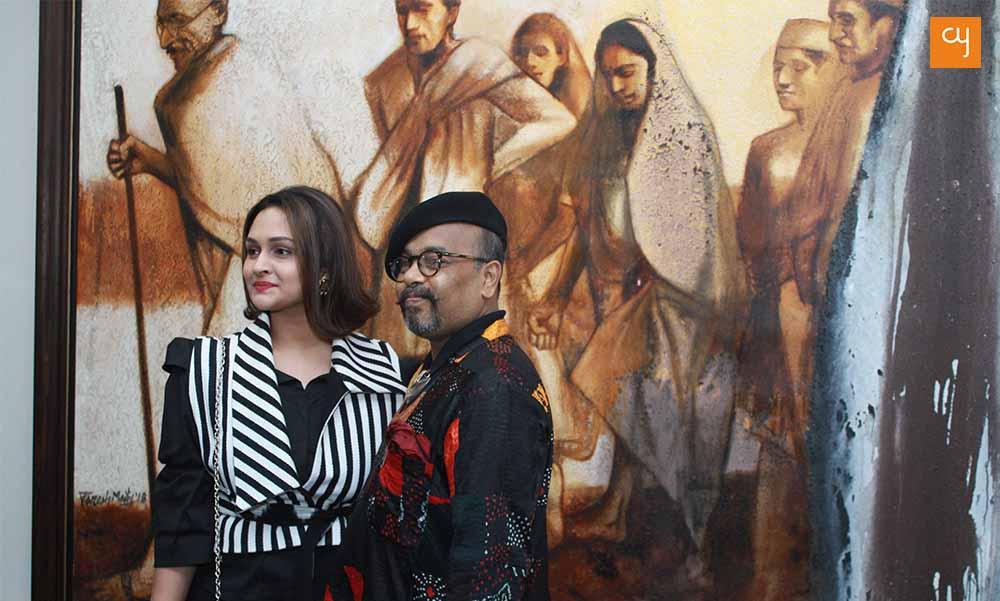 Sanjana Shah and Paresh Maity at 079 Stories art gallery