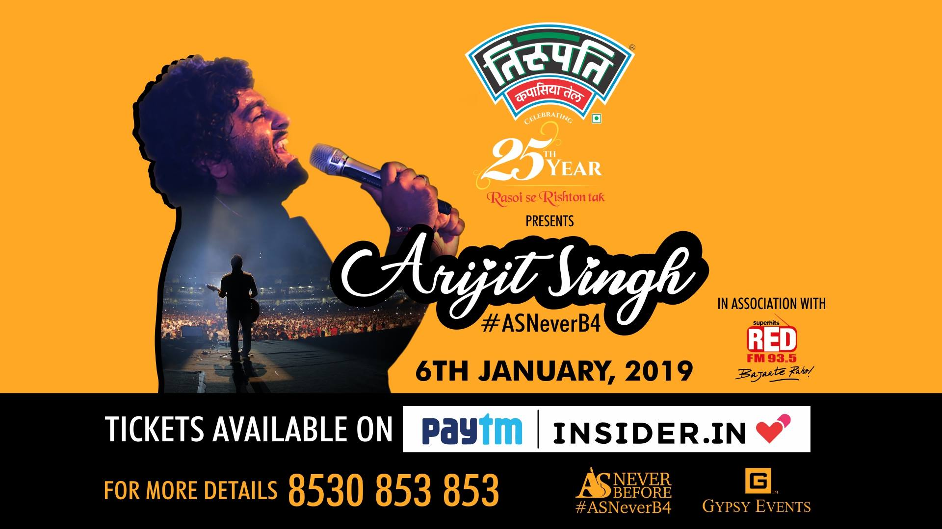 Arijit Singh Live ASNeverB4:Celebrating 20 years of Gypsy Events