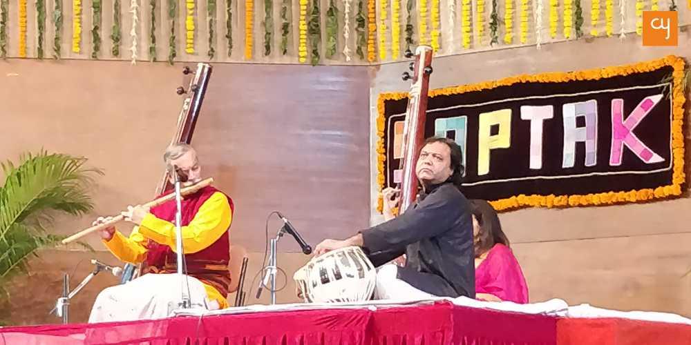 Shri Nityanand Haldipur playing Bamboo Flute
