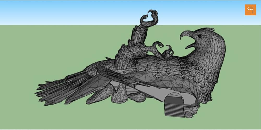 jatayu-sculpture-3d-model