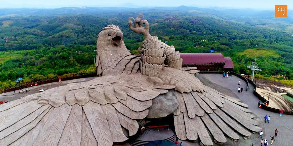 World S Largest Bird Sculpture At Kerala S Jatayu Nature