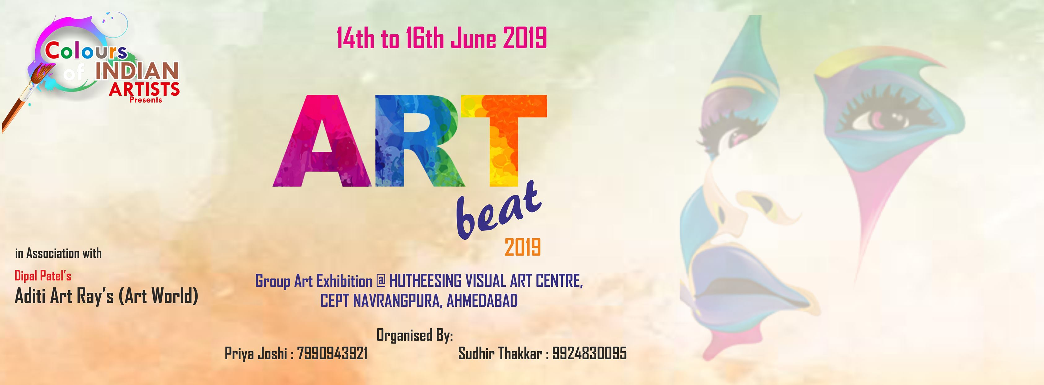 Art Beat 2019 - Group Exhibition at Hutheesing Art Centre