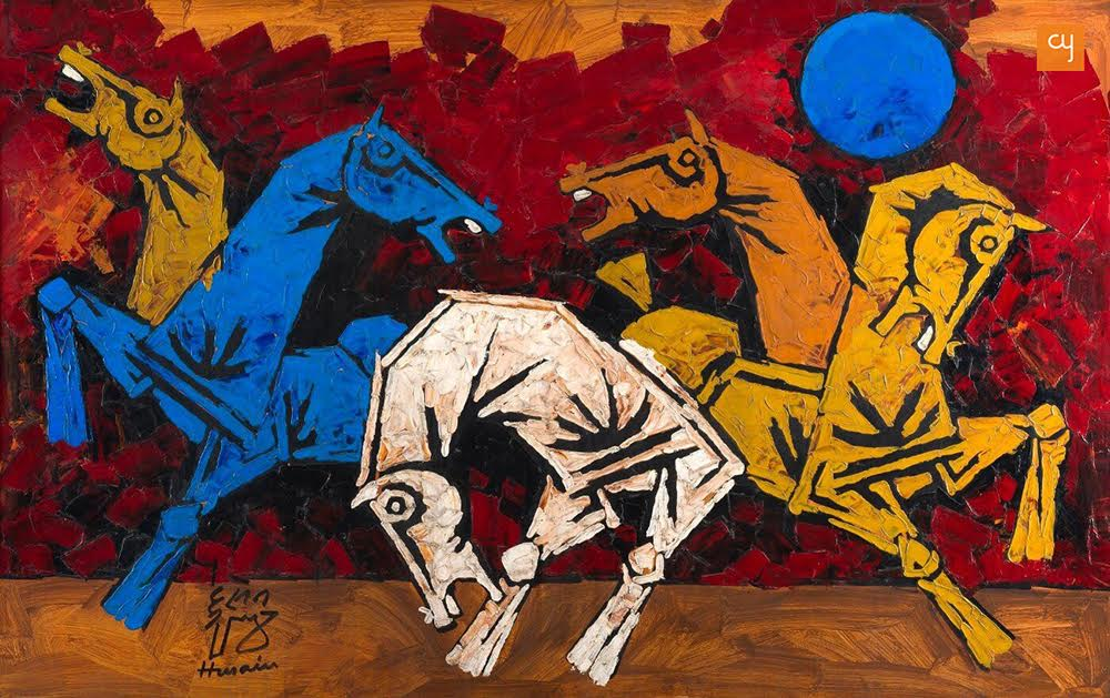 five-horses-m-f-husain