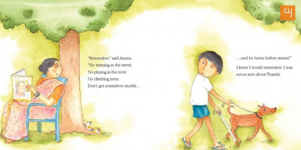a-walk-with-thambi-illustrated-by-proiti-roy-written-by-lavanya-karthik-tulika-books