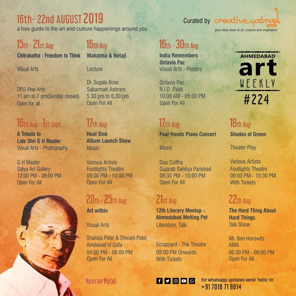 Things to do in Ahmedabad : Find Out in Art Weekly #224