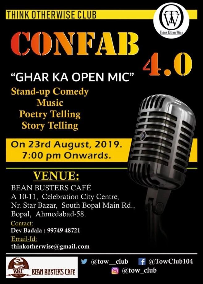 Confab 4 Ghar ka open mic