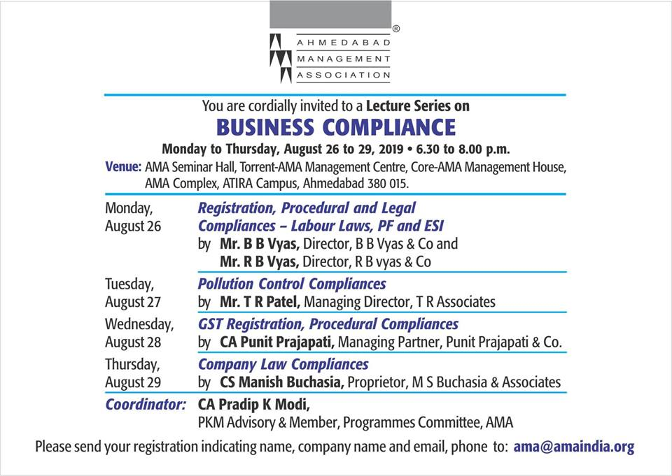 Lecture Series On Business Compliance
