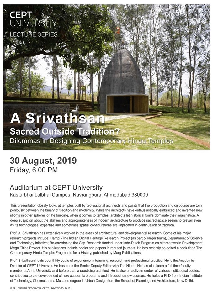 Lecture by Prof. A Srivathsan