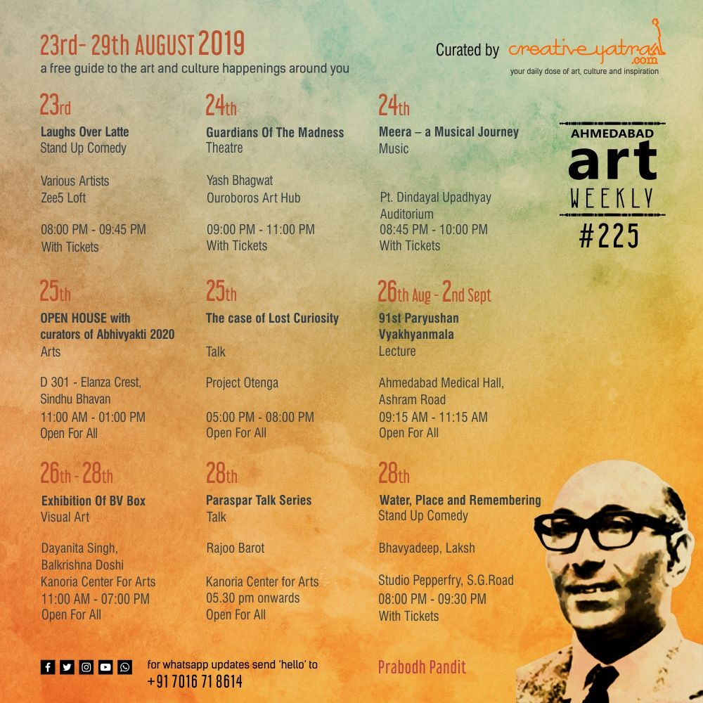 Things to do in Ahmedabad : Find out in Art weekly #225