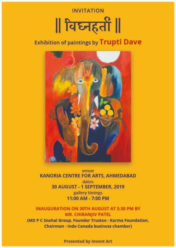 Vighnaharta- An Art Exhibition by artist Trupti Dave