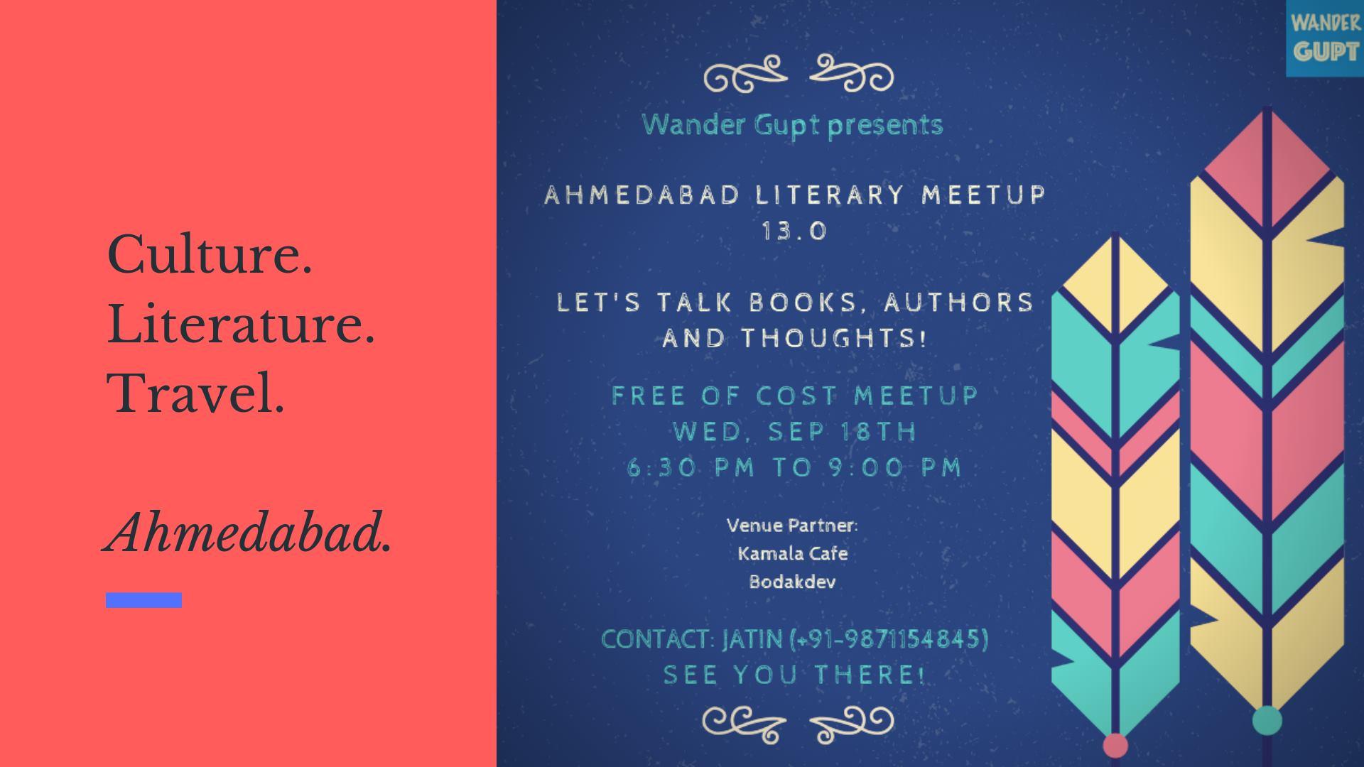 13th Literary Meetup - Ahmedab ...