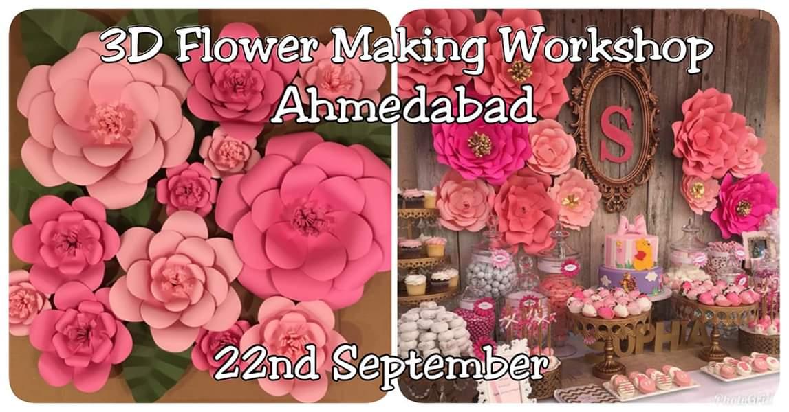 3D Flower Making Workshop!! Ah ...