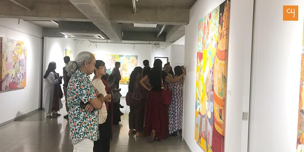 Nabibakhsh Mansoori at Bhairavi Modi's art exhibition
