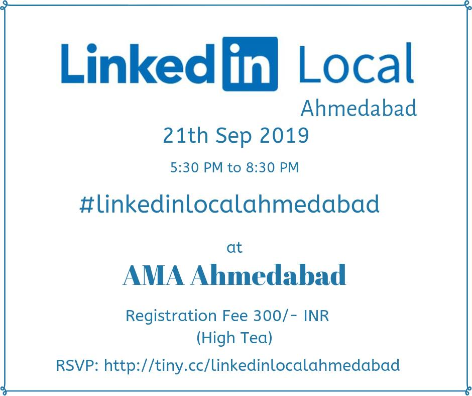 Linkedin Local Meet Ahmedabad - Creative Yatra