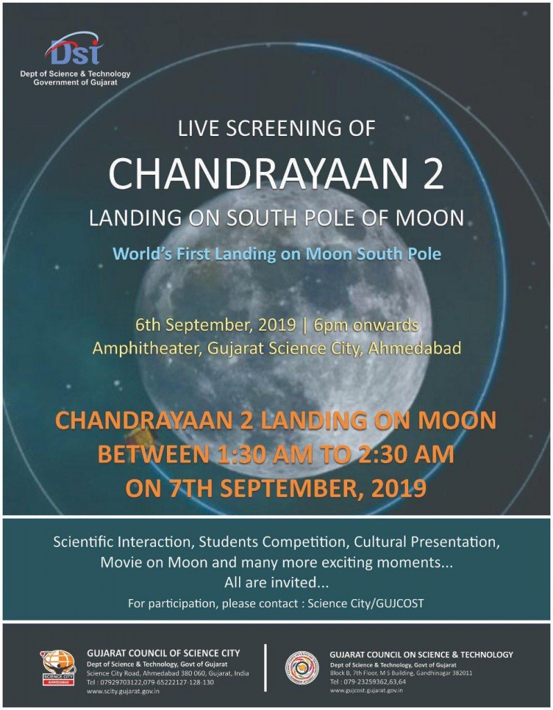Live Screening of CHANDRAYAAN 2