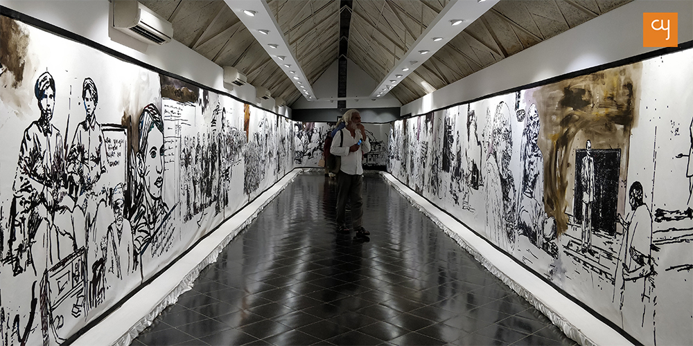 Gandhi's life on canvas