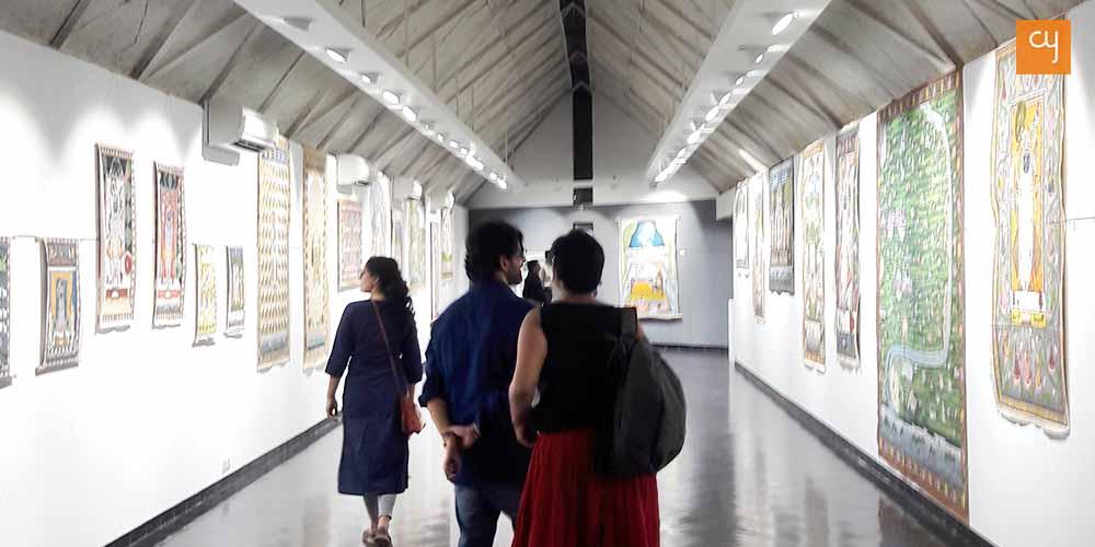 Pichhwai art show at Amdavad ni Gufa