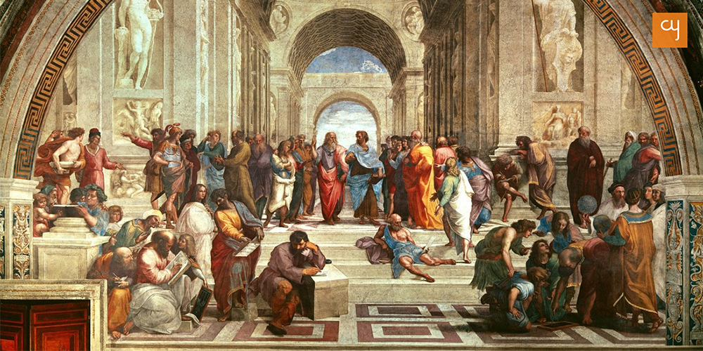 The School of Athens painting