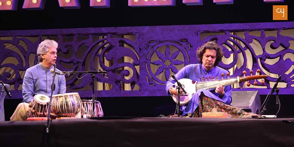 Ustad Fazal Qureshi on Tabla and Ayaan Ali Bangash on Sarod at 2017 Water Festival
