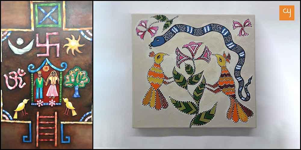Tribal forms art show by Priya