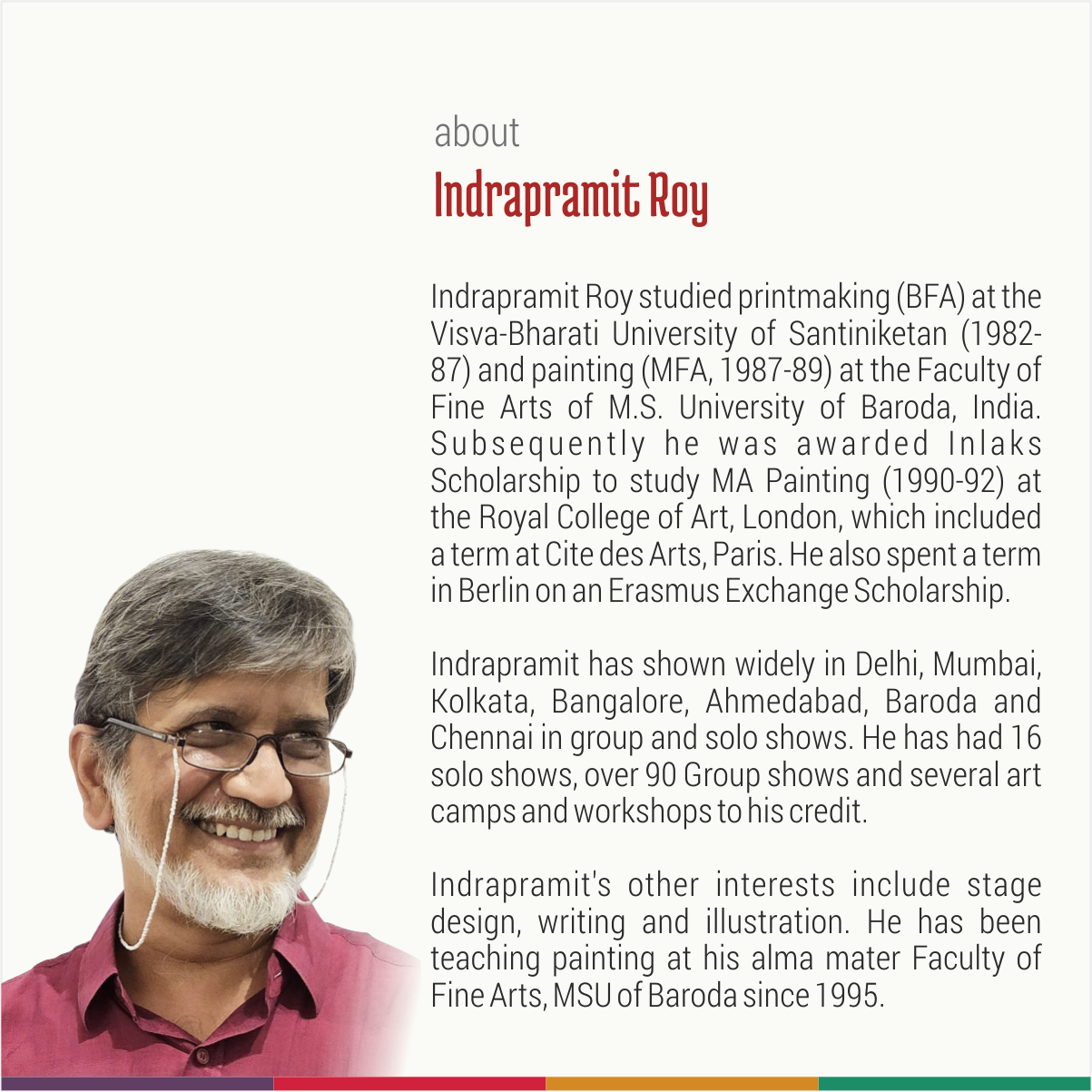 Talk by eminent artist Shri Indrapramit Roy1