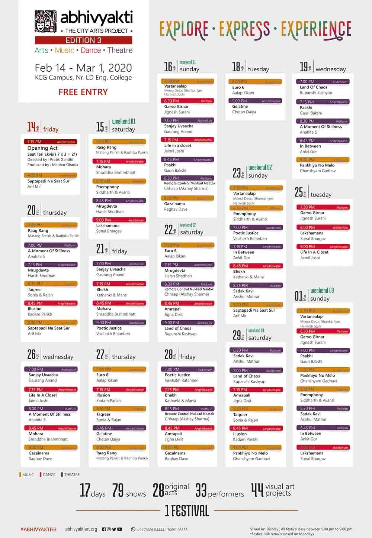 Abhivyakti Edition 3 Schedule