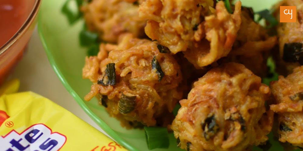 Herbed Maggi Fritters