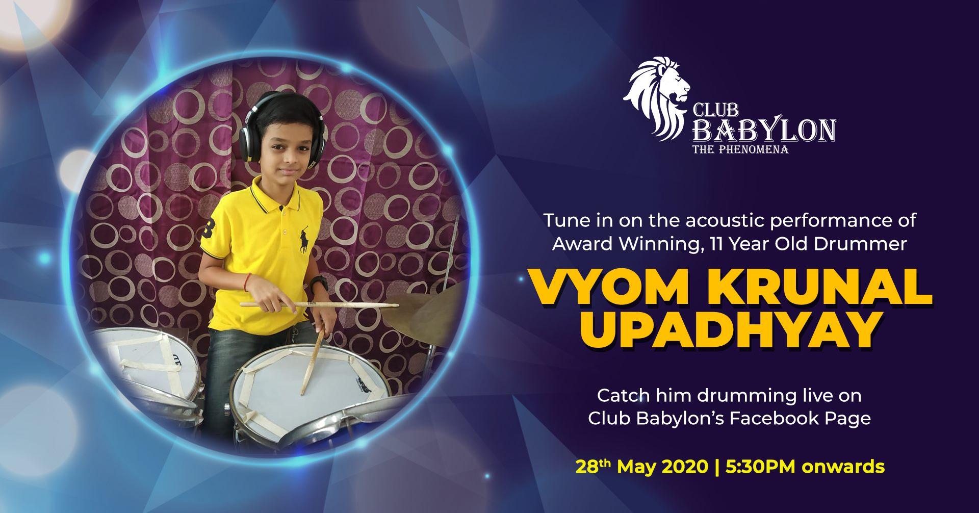 Live Drumming with Vyom Krunal ...