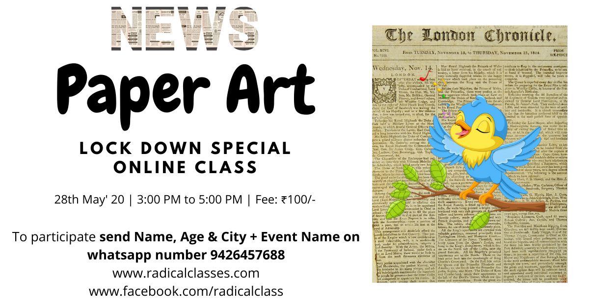 News Paper Art (Online worksho ...