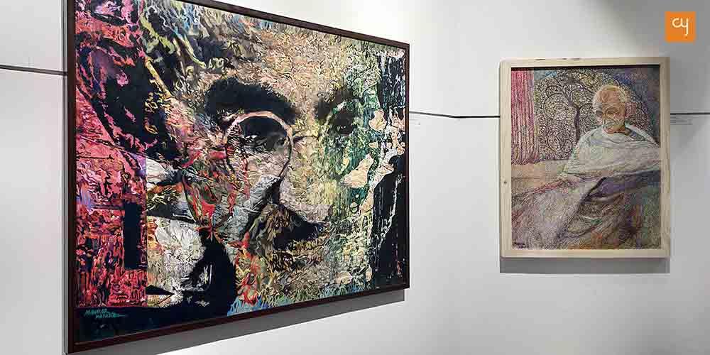 Tatiles Behind The Mahatma – A Solo Exhibition of recent paintings by Manhar Kapadia