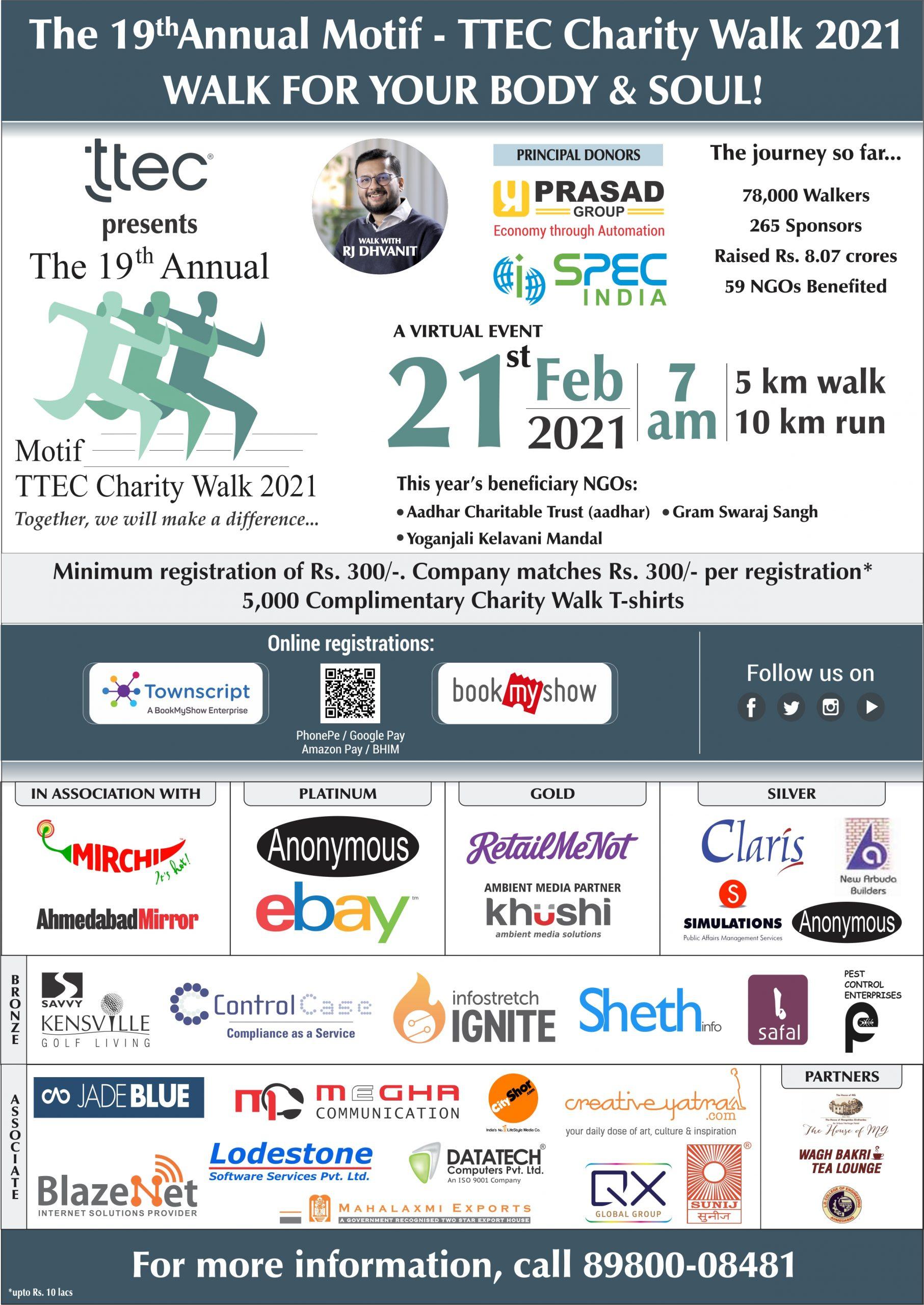 MotifTTEC Charity Walk Ahmedabad