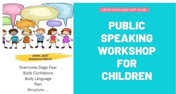 Public Speaking Workshop for Children – April 2021