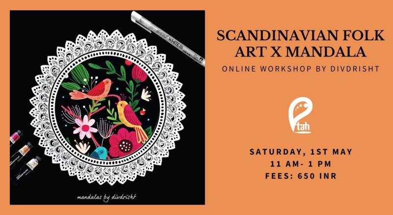 Scandinavian Folk Art X Mandala Online Workshop