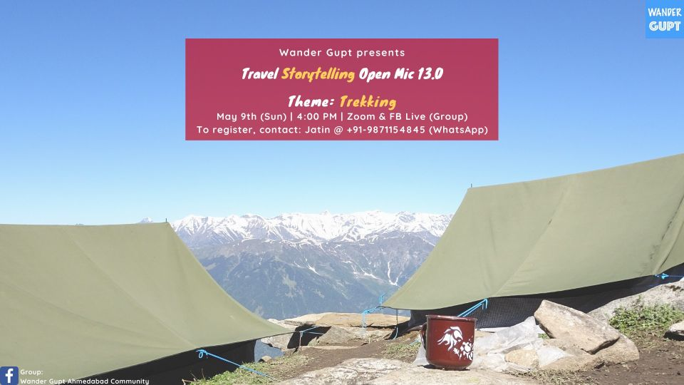 Travel Storytelling Open Mic 13.0 - Theme Trekking