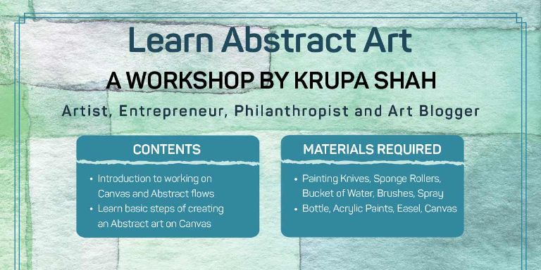Abstract Art Basics by Awardee Artist Krupa Shah